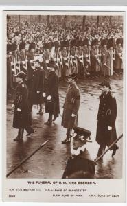 Funeral of King George V- King Edward VIII, Duke Of York Etc RP PPC, Unposted