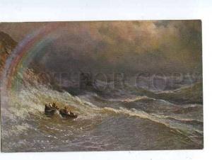 126178 Storm RAINBOW Armenian Artist AIVAZOVSKY vintage Color
