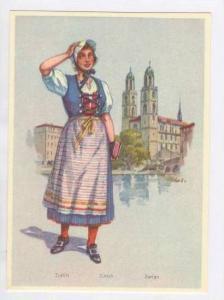 Girl of Zurich, Switzerland 1940s