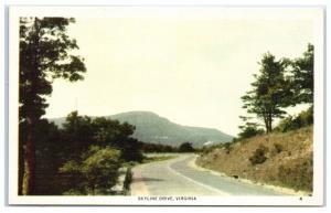 Mid-1900s Skyline Drive, Shenandoah National Park, VA Postcard