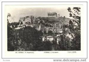 RP: Scenic View of Acropolis, Athens, Greece, 1910-30s