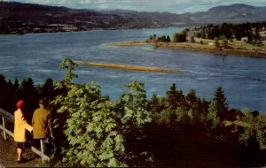 Washington Columbia River Boulevard Evergreen Highway Looking Up The River Un...