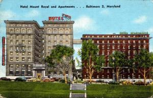 Maryland Baltimore Hotel Mount Royal and Apartments