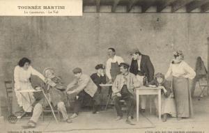 CPA Tournée Martini La Casserole Le Vol Artiste THEATRE (42802)