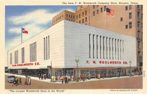 G22/ Houston Texas Postcard F.w. Woolworth Department Store Linen
