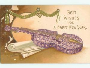 Pre-Linen New Year VIOLIN MADE OF FLOWERS AB2452