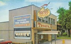 Pelissier Street Windsor Ontario Canada Mario's Tavern Postcard