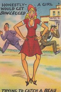 Comic: Men Running From Blond Woman, A Girl Would Get Bow-Legged Trying To C...