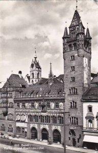 Schweiz Basel Rathaus und Martinskirche Real Photo