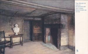 TUCK #774, The Room In Which Shakespeare Was Born, Stratford-on-Avon (Warwick...