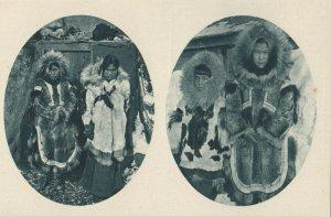 Cercle Arctique (ALASKA) , 1910s ; Eskimo pairs