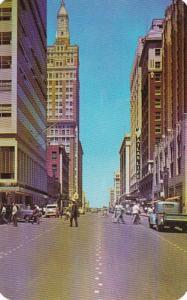 Oklahoma Tulsa Boston Avenue Looking North