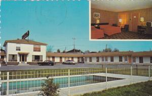Swimming Pool, Motel I'Etape Inc., Mont-Laurier, Quebec, Canada, PU-1989