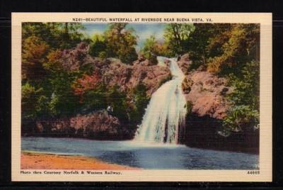 Virginia Postcard Waterfall Riverside Buena Vista