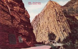 The Narrows, Ogden Canyon, Utah, Early Postcard, Unused