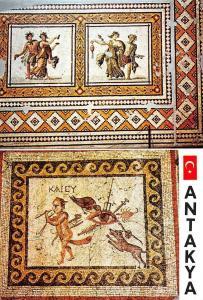 Turkey Antakya Muze Dansozler ve Kem Goz mozayiki