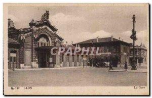 Laon - La Gare - Old Postcard