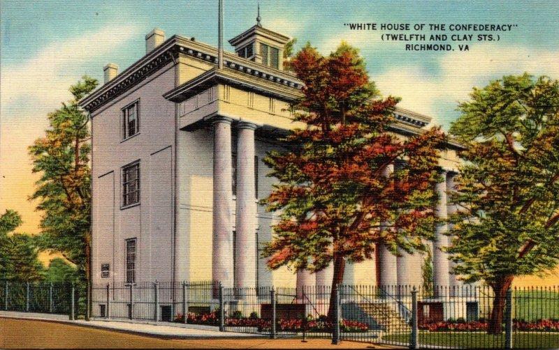 Virginia Richmond White House Of The Confederacy 1946