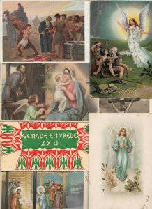 Beautiful Religion Postcard Lot of 20 With Angels Christmas and more 01.16