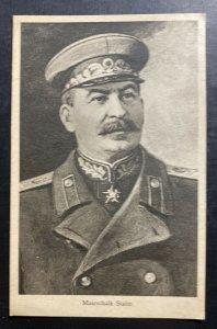 Mint Russia USSR Picture Tucks Postcard Marshall Joseph Stalin WW2