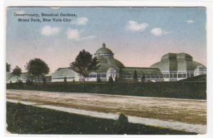 Conservatory Bronx Park New York City 1917 postcard