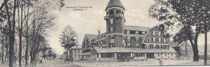 WOODSTOCK , Vermont , 1901-07 ; Woodstock Inn Panorama , Bi-Fold