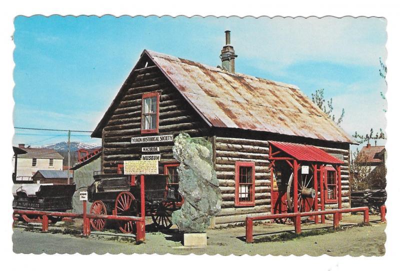 Canada MacBride Museum Whitehorse Yukon Horback Photo Vintage JH Bell Postcard