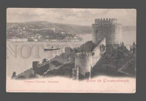 079857 Salut de Constantinople Chateau d'Europe Vintage PC
