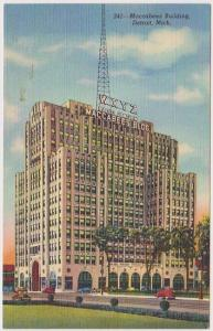 USA - 1940 Postcard Showing Historic Maccabees Building