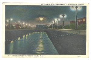 Gatun Locks By Moonlight, Panama Canal, Panama, 1910-1920s