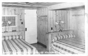 Hillsboro New Hampshire Bear Hill Interior Real Photo Antique Postcard K30790