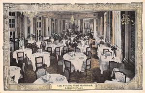 Kansas City MO Art Nouveau Postcard~Hotel Muehlebach Cafe Trianon~Sconces c1920