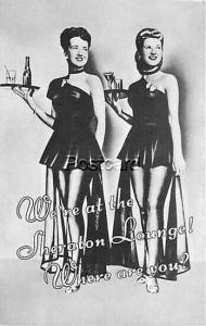 Advertising, Sheraton Hotel, Sheraton Lounge, Two Waitresses, Colourpicture