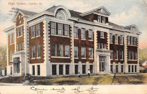 Lyons Iowa High School Street View Antique Postcard K47028