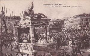 France Carnival de Nice 1928 Le Theatre Ambulant grand char