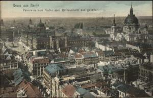 Gruss Auas Berlin Germany Panorama c1910 Postcard