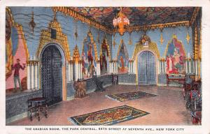 The Arabian Room, The Park Central Hotel, New York, N.Y., Early Postcard, Used