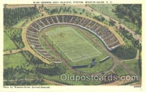 Bowman Gray Memorial Stadium, Winston-Salem, NC, USA Foot Football Stadium Un...