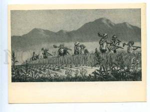 181236 China returned to work by Li Hua old postcard
