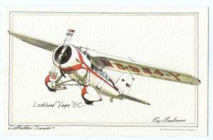 Lockheed Vega 5C- Drawing by Johns-Byrne Co 1974