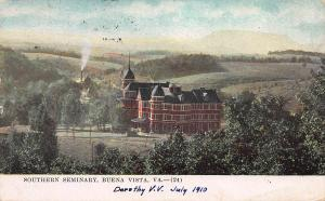 Southern Seminary, Buena Vista, Virginia, Early Postcard, used in 1910