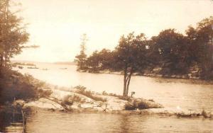 Thousand Islands New York Scenic View Real Photo Vintage Postcard JB626366