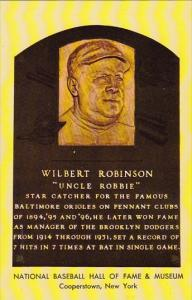 Wilbert Robinson Uncle Robbie National Baseball Hall Of Fame & Museum Coopers...