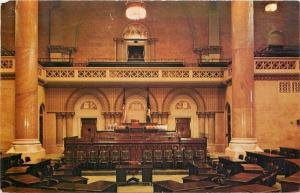 Albany New York~Capitol Assembly Chamber~Speakers Rostum~1958 Postcard