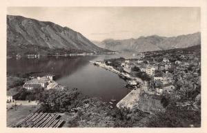 Kotor Montenegro Harbor Birds Eye View Real Photo Postcard JC932654