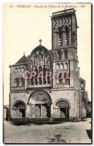 Old Postcard Vezelay Facade of the Church of the Madeleine