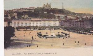 France Lyon Place Bellecour et Coteau de Fourviere