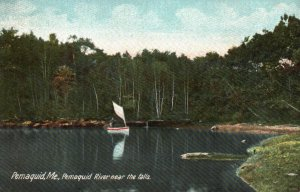 Pemaquid, ME, Pemaquid River near the Falls, Undivided Back Postcard g8251
