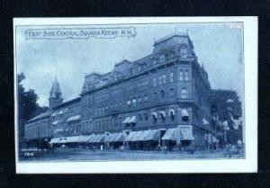 NH Central Square in KEENE NEW HAMPSHIRE UDB Postcard