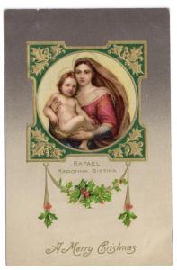 Rafael Madonna Child Vintage Christmas Postcard Winsch
